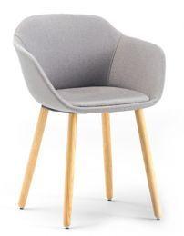 Taya-Stuhl gepolstert (4-Bein-Holz)