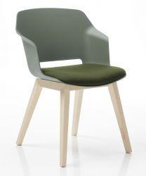 Besprechungsstuhl CLIP (4-fuẞgestell aus Holz)